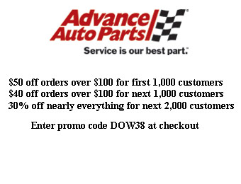 Advance Auto Parts Coupon - $50 off $100+ Purchases