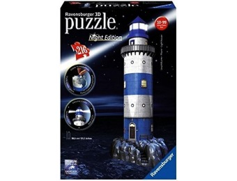 49% off Ravensburger Lighthouse Night Edition 3D Puzzle (216-Piece)