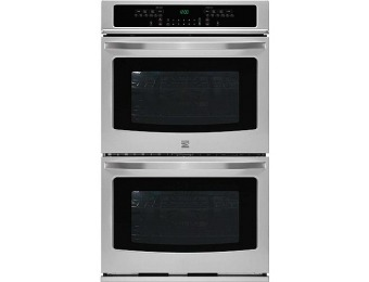 "$1,350 off Kenmore 49523 27"" Self Clean Double Electric Wall Oven"