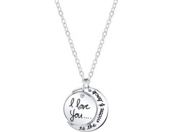 75% off Luna Amore Sterling Silver Mother/Daughter Pendant