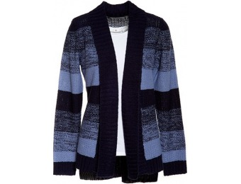 77% off Jason Maxwell Long Sleeve Hi Lo Striped Cardigan