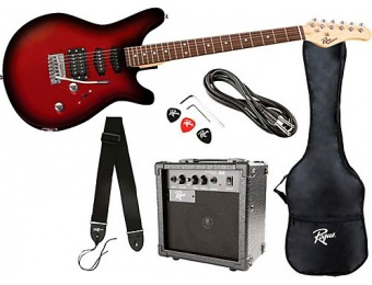 67% off Rogue Rocketeer Electric Guitar Pack Red Burst