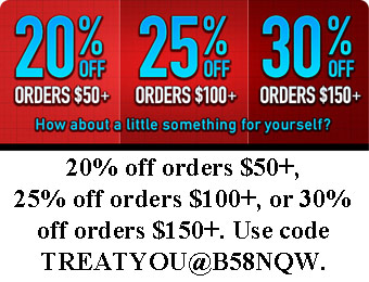 20%, 25%, or 30% off at ThinkGeek w/code: TREATYOU@B58NQW