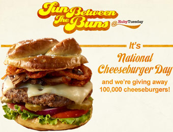 Ruby Tuesday: Free Burger (First 100,000)