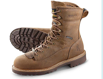 "$110 off Browning 8"" Waterproof Thinsulate Boots w/ code BH996"