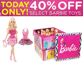 40% off Select Barbie Dolls & Accessories