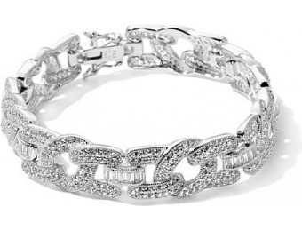 85% off Victoria Wieck Absolute Pave and Baguette Bangle Bracelet