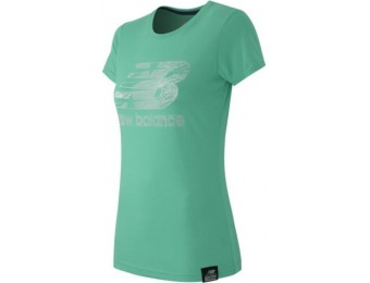 77% off New Balance Essentials Plus SS Logo Womens Tee