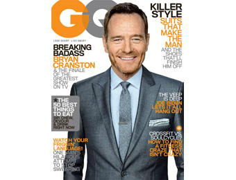 90% off GQ Magazine Annual Subscription, $4.99 / 12 Issues