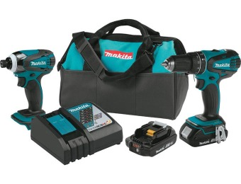 $70 off Makita XT273R 18V LXT Lithium-Ion Compact 2-Pc Kit