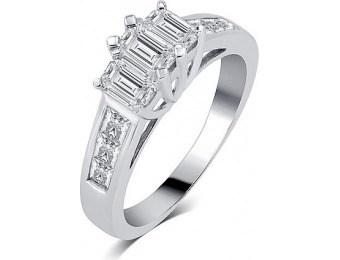 75% off 1 Cttw Diamond Ring, White gold