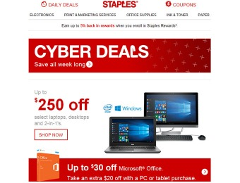 Shop Staples Cyber Monday Deals - All Week Long