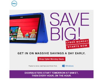 Dell Cyber Monday: Laptop, Desktop & Electronics Deals