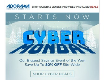 Shop Adorama Cyber Monday Deals - Up to 80% off Site-Wide