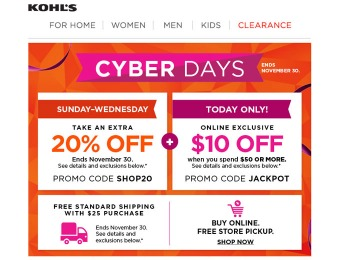 Shop All The Kohl's Cyber Monday Deals
