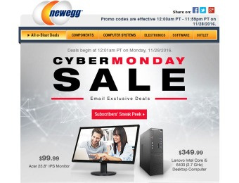 2016 Newegg Cyber Monday Sale Event