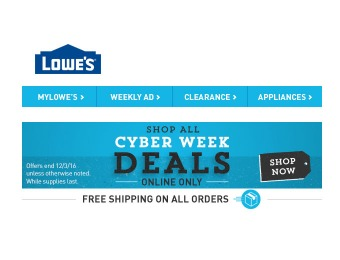 Shop All The Cyber Monday / Cyber Week Deals at Lowe's