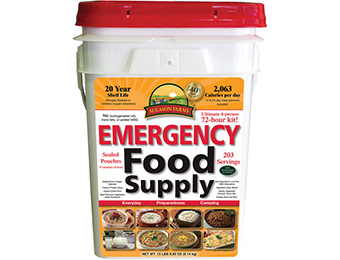 $50 off Augason Farms 12-Day Emergency Food Pail