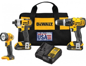 $100 off DEWALT 20V Max Lithium Ion Cordless Combo Kit DCK384C2