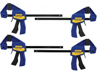 67% off IRWIN QUICK-GRIP One-Handed Mini Bar Clamp 4 Pack