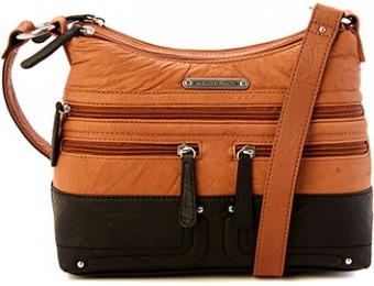 76% off Stone Mountain Elmas Hobo Bag - Tan/Black
