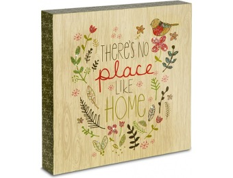 69% off Pavilion There's No Place Like Home Plaque, 10 Inch