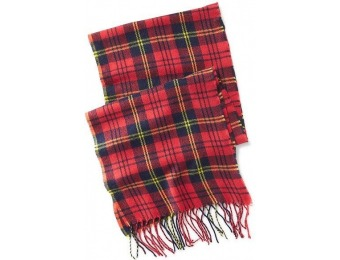 78% off Old Navy Plaid Flannel Fringe Scarf For Men