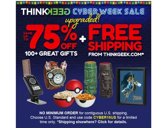 Get a Second Helping of Savings! Up to 75% off Cyber Deals at ThinkGeek