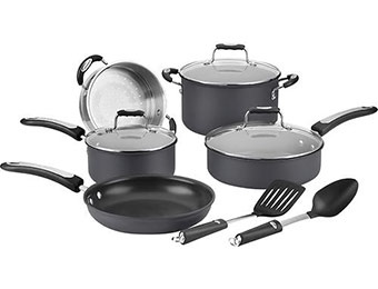 50% off Cuisinart Pro Classic 10-Pc Nonstick Anodized Cookware Set