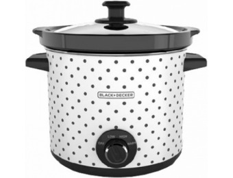 50% off Black & Decker 4-Qt Slow Cooker, White With Dot Case