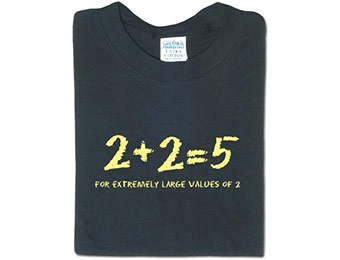 89% off 2+2=5 T-shirt, promo code: EYEONIT