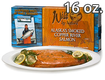 55% off Wild by Nature Alaskan Salmon (16 oz. Smoked Fillets)