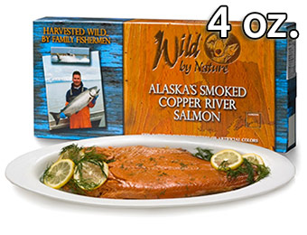 52% off Wild by Nature Alaskan Salmon (4 oz. Smoked Fillets)