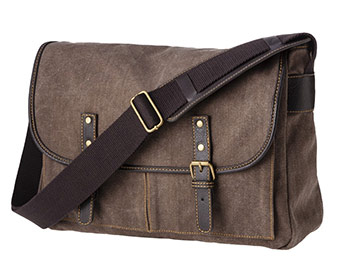 48% off Merona Men's Brown Canvas Messenger Bag