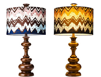 30% off Mudhut Table Lamp with Zig-Zag Shade (Includes CFL Bulb)
