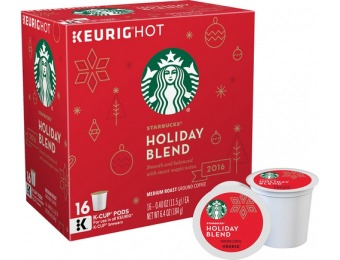 38% off Starbucks Holiday Blend (16-Pack)