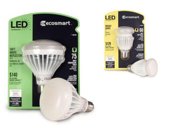 Up to 50% off Select EcoSmart LED Light Bulb Value Packs