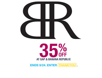 Extra 35% off at Banana Republic w/code: THANKYOU