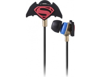 85% off Batman v Superman Mold Earbud Headphones With Pouch