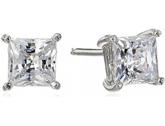89% off Platinum-Plated Sterling Silver Swarovski Zirconia Earrings
