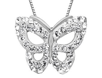 $60 off Butterfly Pendant with Swarovski Crystal in Sterling Silver