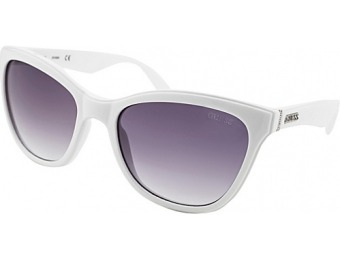 73% off GUESS Eyewear Square Sunglasses, White