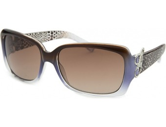 74% off Guess Women's Rectangle Brown-Blue Translucent Sunglasses