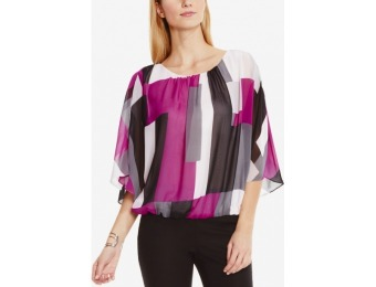 82% off Vince Camuto Printed Poncho Blouse