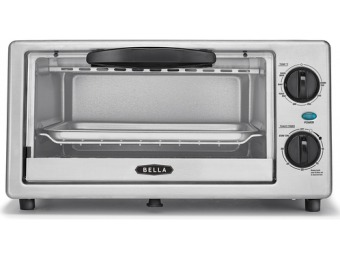 52% off BELLA 4-Slice Stainless Steel Toaster Oven 748812