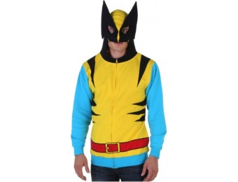 70% off Marvel Wolverine Mens Yellow Suit Up Hoodie