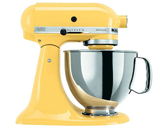 $88 off KitchenAid Artisan 5 Qt Stand Mixer (Majestic Yellow)