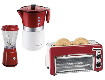 Extra $16 off Hamilton Beach Small Appliance Bundle (Red)