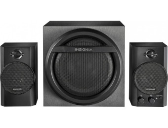 55% off Insignia 2.1 Bluetooth Speaker System (3-Piece)