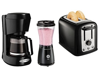 Extra $11 off Hamilton Beach Small Appliance Bundle (Black)